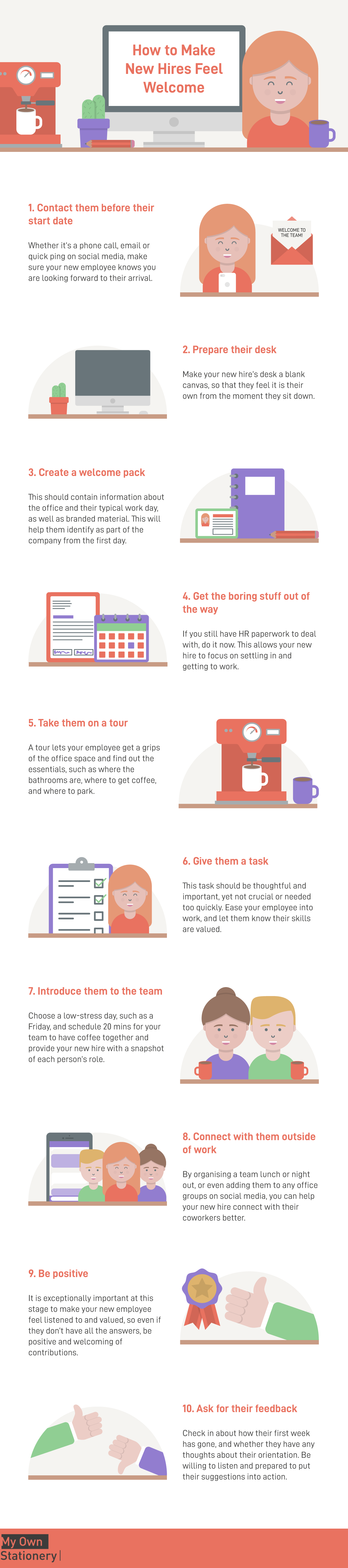 10 ways to make your new hire feel welcome